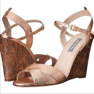 SJP rose gold wedges